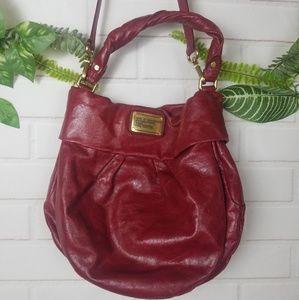 Marc by Marc Jacobs red leather shoulder handbag